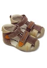 Sandalete piele Sunway Bej