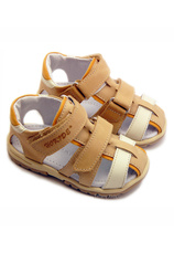 Sandale piele Hokide Bej-Oranj
