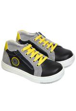 Hokide® Pantofi sport piele Negru-Galben
