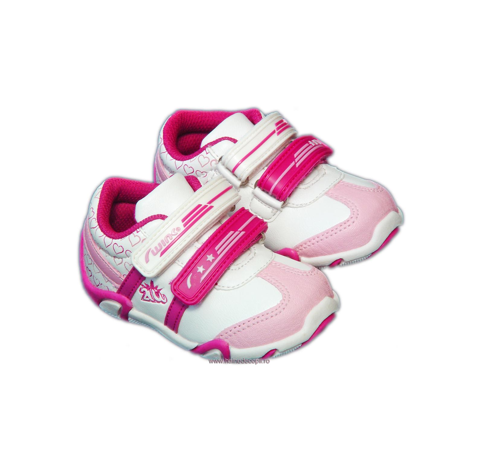Pantof sport Wink Alb-roz